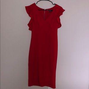Red midi dress XOXO